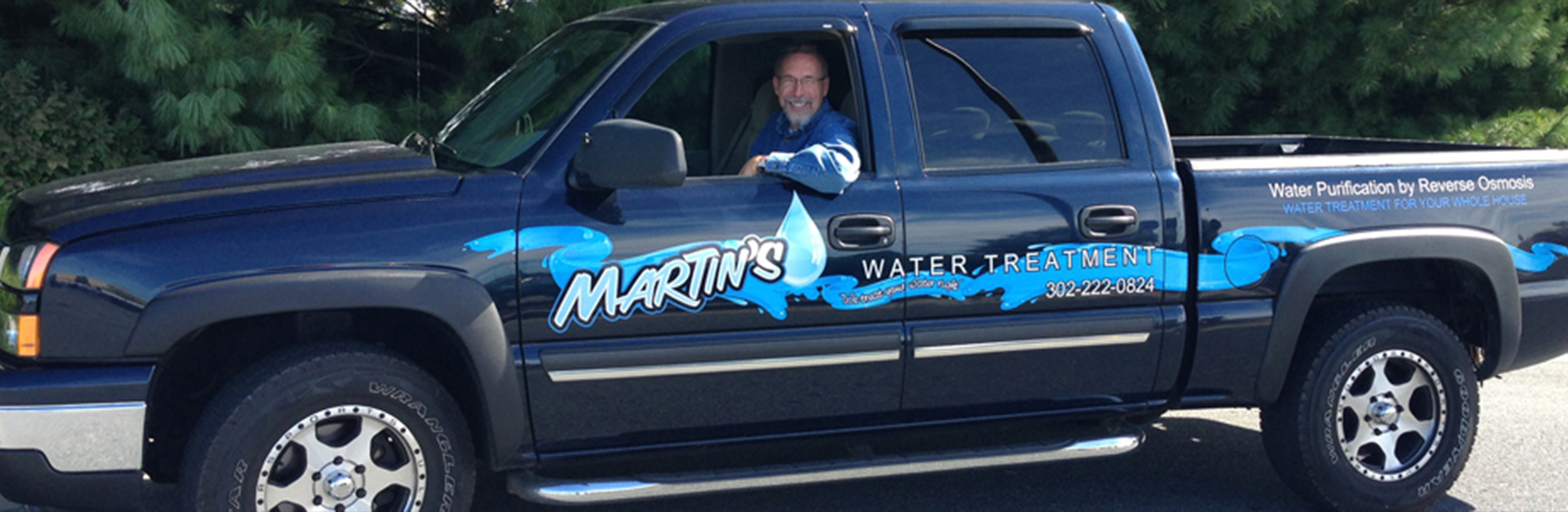 Martin's Water Treatment company truck